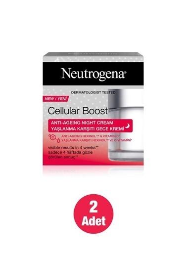 Neutrogena Cellular Boost Yaşlanma Karşıtı Gece Kremi 50Mlx 2 Adet Renksiz